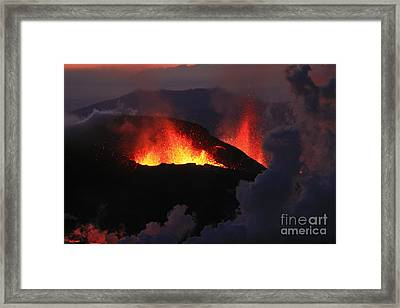 Framed Print featuring the photograph Volcanic Eruptions by Gunnar Orn Arnason