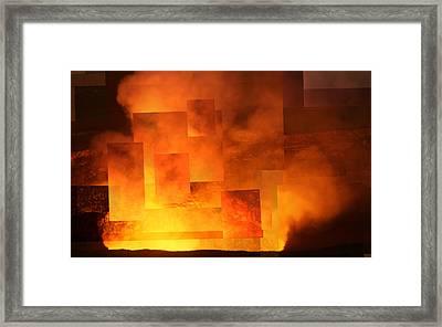 Volcanic Fire - Kilauea Caldera  Framed Print