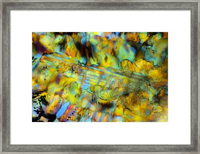 Volcanic Glass Framed Print by Tom Phillips