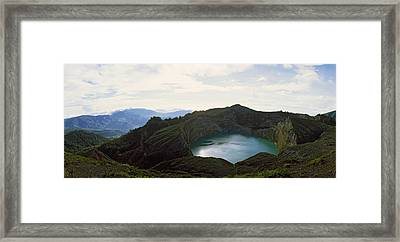 Volcanic Lake On A Mountain, Mt Framed Print