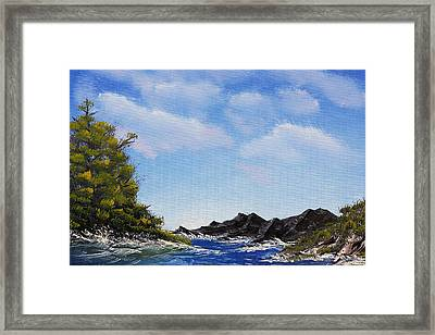 Volcanic Rock Lagoon Framed Print by Jennifer Muller