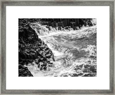 Volcanic Rocks And Water Framed Print