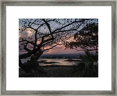 Volcanic Sunset On Hilo Bay - Big Island Framed Print by Daniel Hagerman