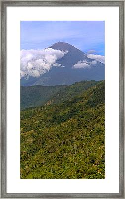 Framed Print featuring the photograph Volcano - Bali by Matthew Onheiber