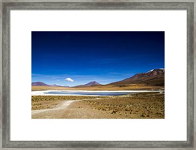 Volcano Lagoon Bolivia Framed Print by For Ninety One Days