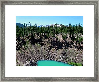 Volcano Lake Framed Print