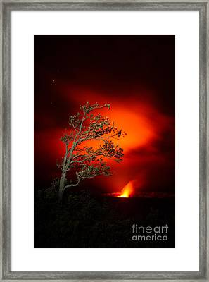 Volcano National Park Glow All Profits Go To Hospice Of The Calumet Area Framed Print