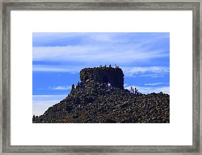 Volcano Oregon Framed Print