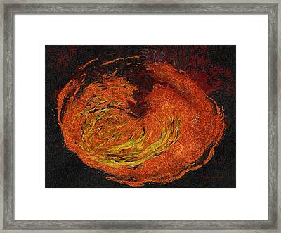 Volcano Photo Art 02 Framed Print by Thomas Woolworth