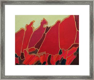 Volcano Vault Framed Print