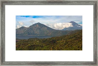 Framed Print featuring the photograph Volcanoes - Bali by Matthew Onheiber