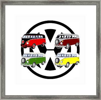 Volkes Vans Framed Print