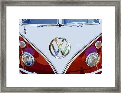 Volkswagen 21 Window Kombi Bus Framed Print