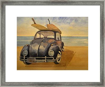 Volkswagen Beetle Framed Print by Juan  Bosco