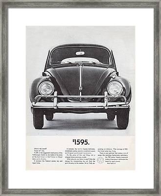 Volkswagen Beetle Framed Print by Georgia Fowler