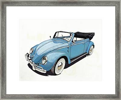 Volkswagen Beetle Framed Print by Paul Kuras