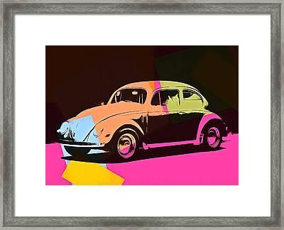Volkswagen Beetle Pop Art 2 Framed Print by Dan Sproul
