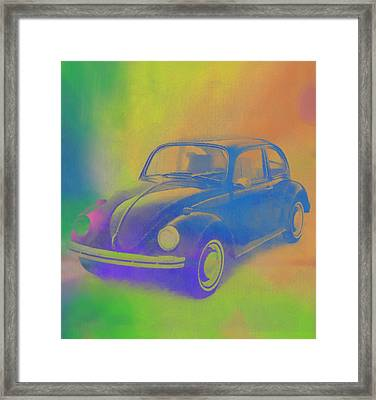 Volkswagen Beetle Pop Art Framed Print