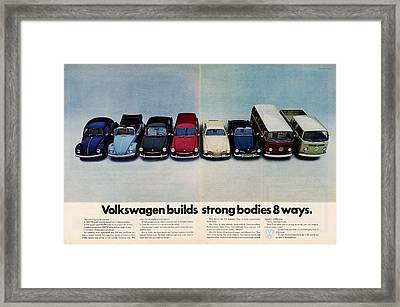 Volkswagen Builds Strong Bodies Eight Ways Framed Print by Georgia Fowler