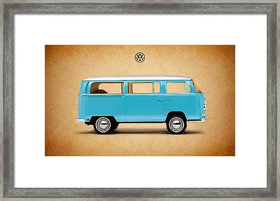 Volkswagen Bus Framed Print by Mark Rogan