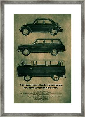 Volkswagen Poster Framed Print by Dan Sproul