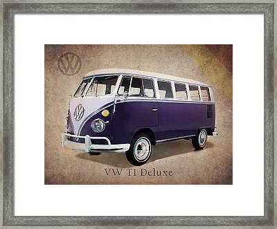 Volkswagen T1 Bus Framed Print by Mark Rogan