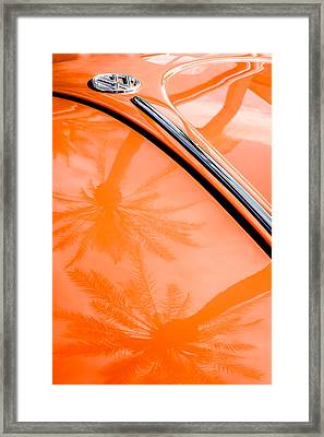 Volkswagen Vw Bug - Beetle Emblem -0164c Framed Print by Jill Reger