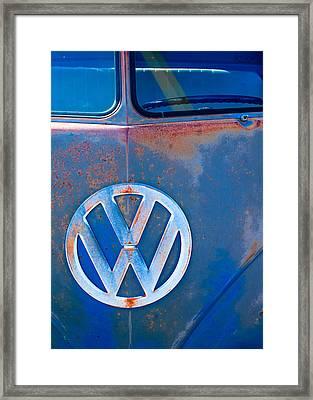 Volkswagen Vw Bus Emblem Framed Print