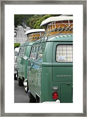 Volkswagen Vw Bus Framed Print by Jill Reger