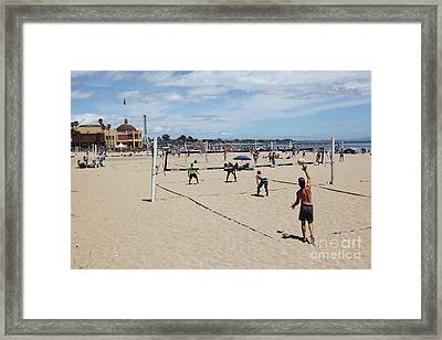 Volleyball At The Santa Cruz Beach Boardwalk California 5d23837 Framed Print by Wingsdomain Art and Photography