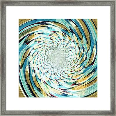 Volleyball Barrage Framed Print by Scott Allison