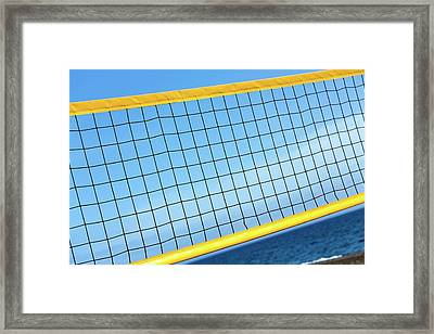 Volleyball Net Framed Print