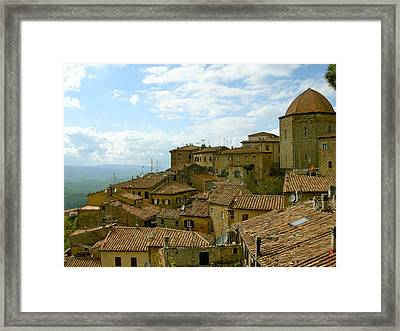 Framed Print featuring the photograph Volterra by Victoria Lakes