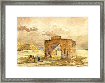 Volubilis Mecknes Ruins Framed Print by Juan  Bosco