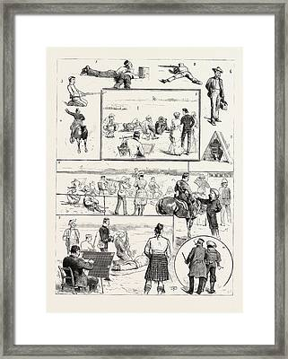 Volunteer Camp Windsor, I. Sleeping Partners. 2. Military Framed Print by English School