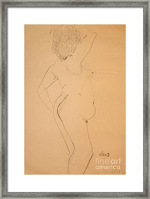 Voluptuous Nude Framed Print by Gabrielle Schertz