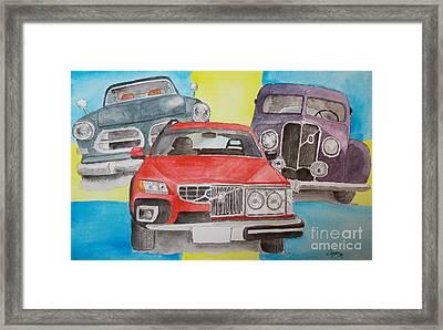 Framed Print featuring the painting Volvo Nostalgi by Eva Ason