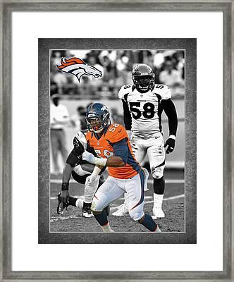 Von Miller Broncos Framed Print by Joe Hamilton