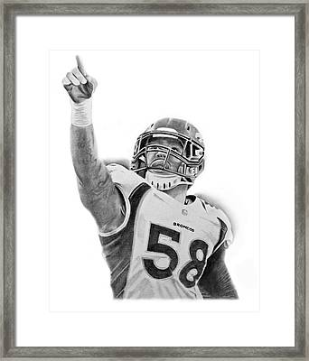 Von Miller Framed Print by Don Medina