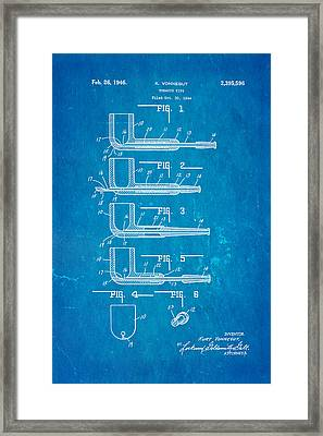 Vonnegut Tobacco Pipe Patent Art 1946 Blueprint Framed Print by Ian Monk