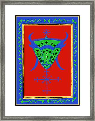 Voodoo Bosou Framed Print by Vagabond Folk Art - Virginia Vivier