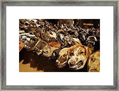Voodoo Fetish Market Framed Print by Manu G