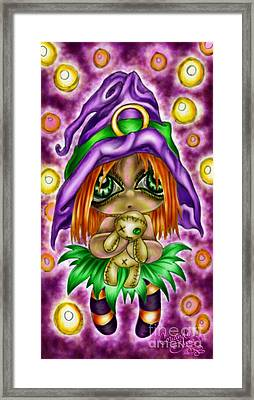 Voodoo Plushie Framed Print by Coriander  Shea