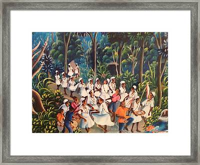 Voodoo Procession Framed Print by Haitian artist