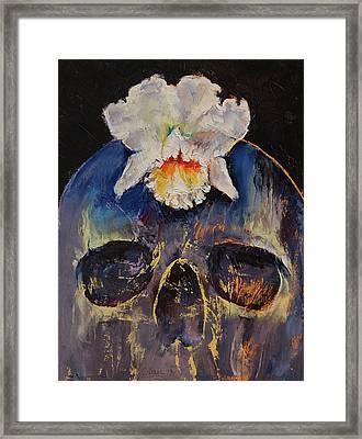 Voodoo Skull Framed Print by Michael Creese