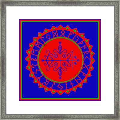 Voodoo Veve  As Above So Below Framed Print by Vagabond Folk Art - Virginia Vivier