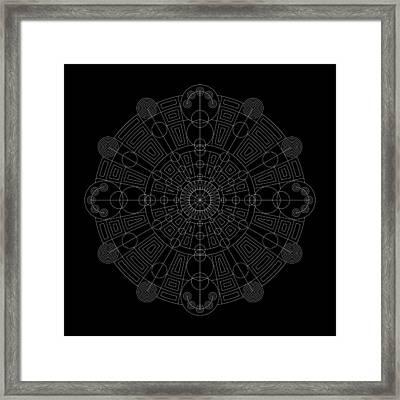 Vortex Inverse Framed Print by DB Artist