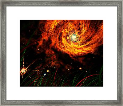 Framed Print featuring the painting Vortex by Persephone Artworks