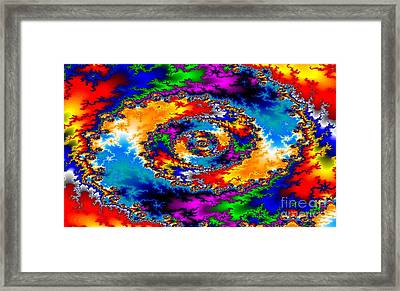 Framed Print featuring the digital art Vortex by Steed Edwards