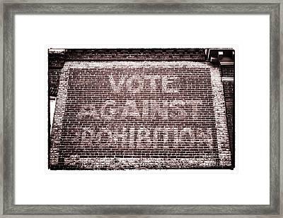 Vote Against Prohibition II Framed Print